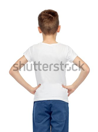 boy in white t-shirt and jeans Stock photo © dolgachov