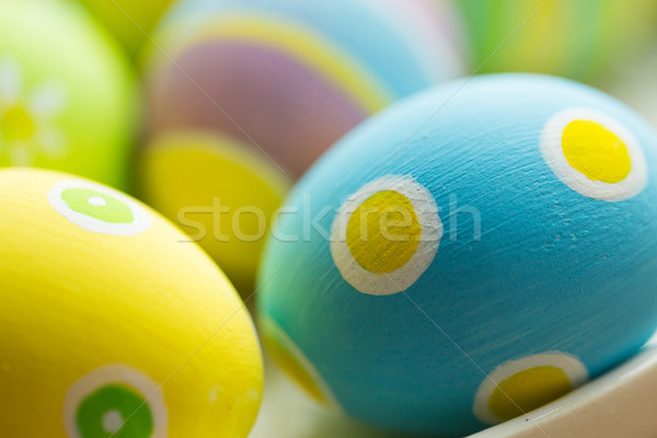 close up of colored easter eggs Stock photo © dolgachov