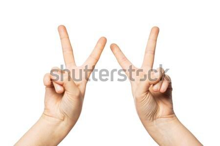 Mani pace vittoria segno Foto d'archivio © dolgachov