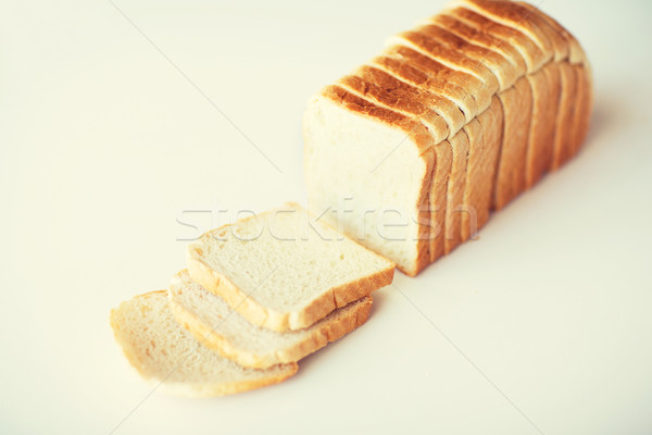 close up of white sliced toast bread on table Stock photo © dolgachov