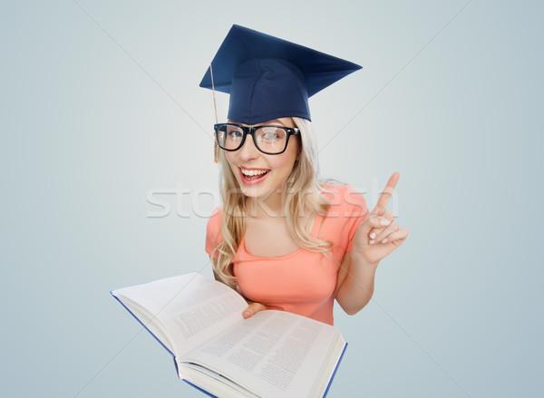 Student kobieta encyklopedia ludzi edukacji wiedzy Zdjęcia stock © dolgachov