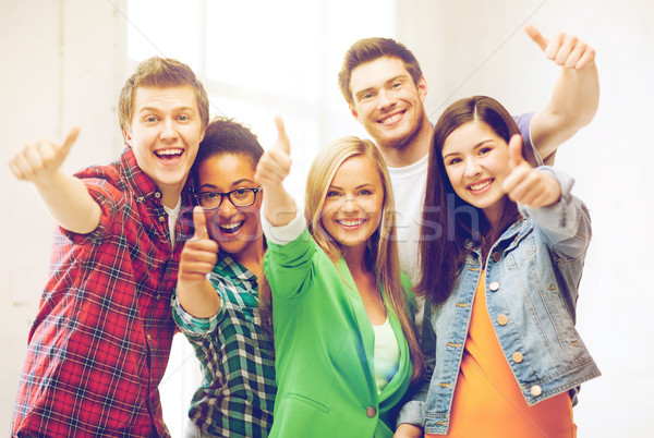 Diákok mutat remek iskola oktatás boldog Stock fotó © dolgachov