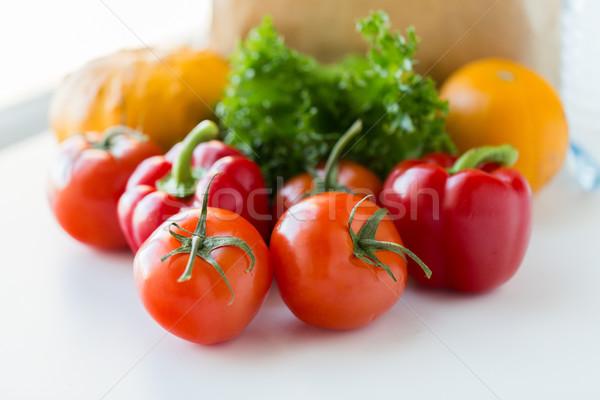 Taze olgun sebze mutfak masası pişirme Stok fotoğraf © dolgachov