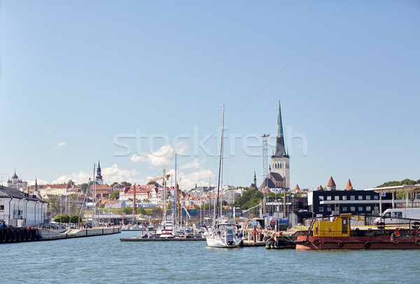 Mer port port vieille ville Tallinn ville Photo stock © dolgachov