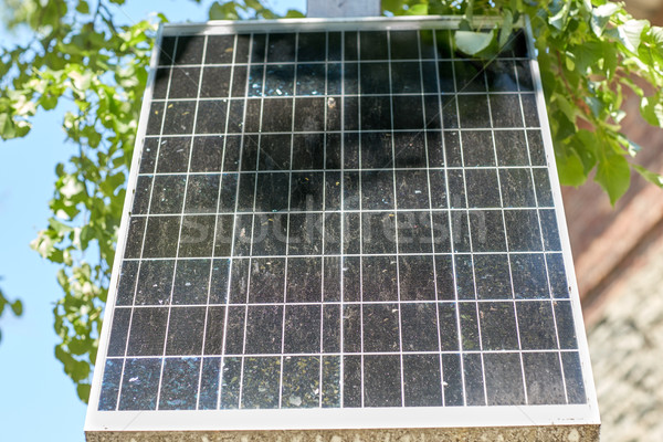 close up of solar battery or cell outdoors Stock photo © dolgachov
