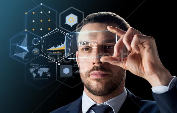 Empresario transparente negocios realidad futuro Foto stock © dolgachov