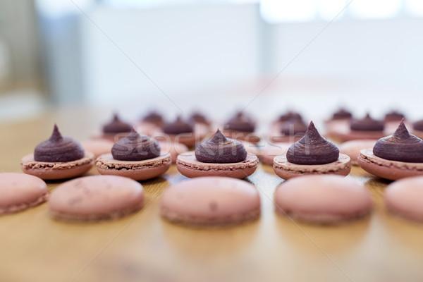 マカロン 表 製菓 ベーカリー 料理 ストックフォト © dolgachov