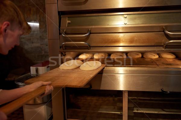 Baker pane forno panetteria alimentare cottura Foto d'archivio © dolgachov