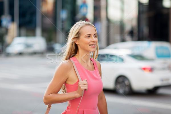 счастливым улыбаясь городской улице жизни люди Сток-фото © dolgachov