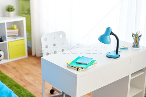 kids room interior with table and school staff Stock photo © dolgachov