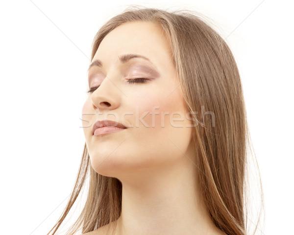 beautiful woman with closed eyes Stock photo © dolgachov