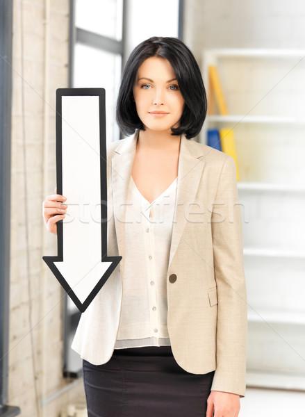 üzletasszony irányítás nyíl jelzés kép vonzó üzlet Stock fotó © dolgachov