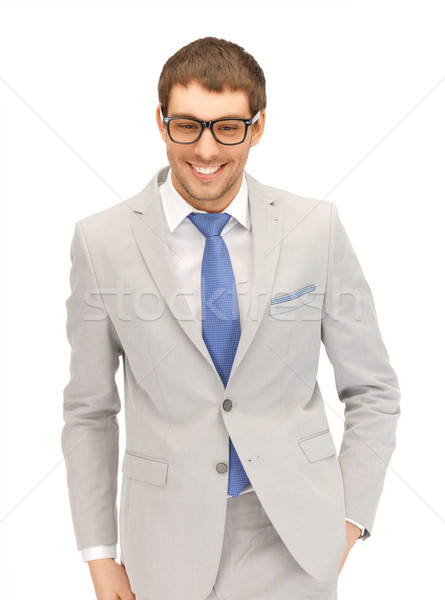 happy businessman in spectacles Stock photo © dolgachov