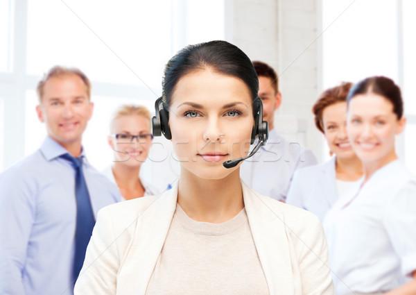 телефон доверия оператор наушники бизнеса Call Center Сток-фото © dolgachov