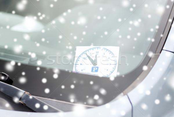 стоянки часы автомобилей приборная панель транспорт автомобиль Сток-фото © dolgachov