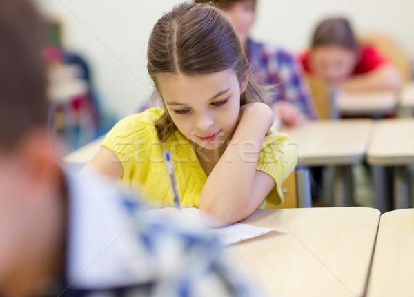 Сток-фото: группа · школы · дети · Дать · испытание · классе