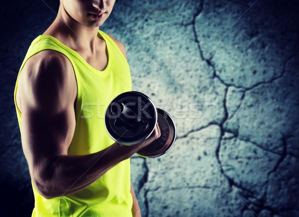 Stok fotoğraf: Genç · pazı · spor · vücut · geliştirme