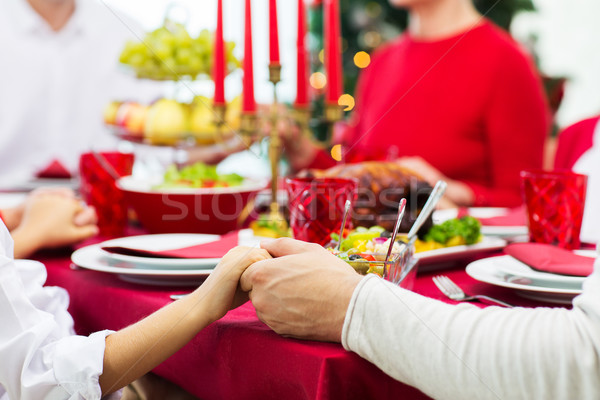 ストックフォト: 家族 · クリスマス · ディナー · ホーム · 休日