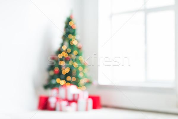 Foto stock: Habitación · árbol · de · navidad · presenta · vacaciones · celebración · casa
