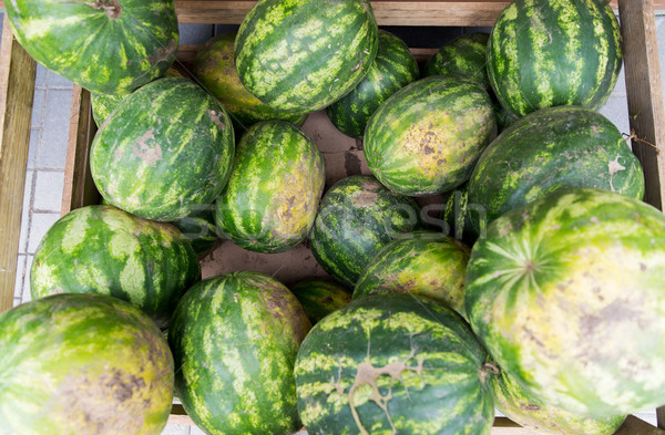 close up of watermelon at street farmers market Stock photo © dolgachov