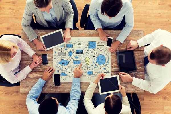 Equipe de negócios reunião escritório pessoas de negócios tecnologia planejamento Foto stock © dolgachov