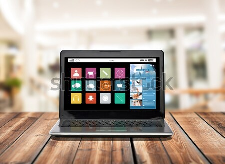 laptop computer with internet search bar on screen Stock photo © dolgachov