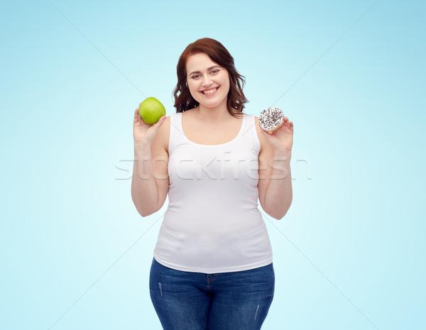 幸せ プラスサイズ 女性 リンゴ クッキー ストックフォト © dolgachov