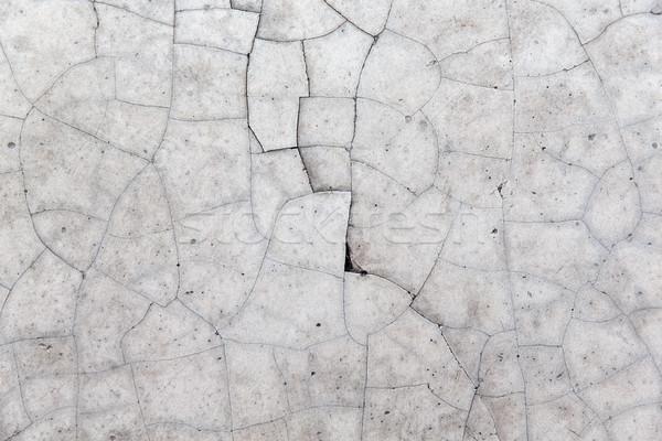 ひびの入った グレー 具体的な 壁 テクスチャ 岩 ストックフォト © dolgachov