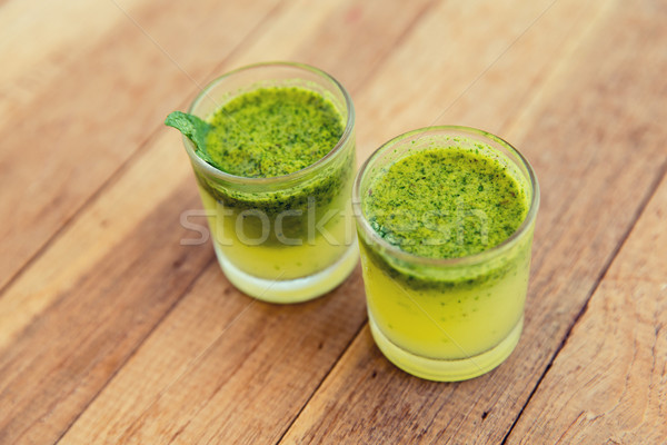 glasses of fresh juice or cocktail on beach Stock photo © dolgachov