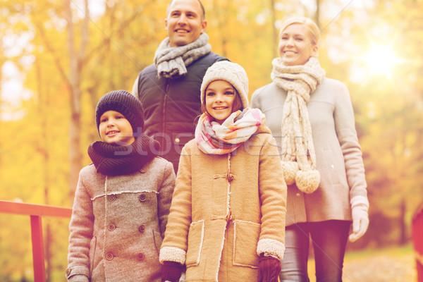 Stockfoto: Gelukkig · gezin · najaar · park · familie · jeugd · seizoen