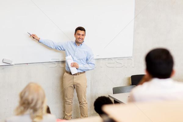 Grupo estudantes professor palestra educação escola secundária Foto stock © dolgachov