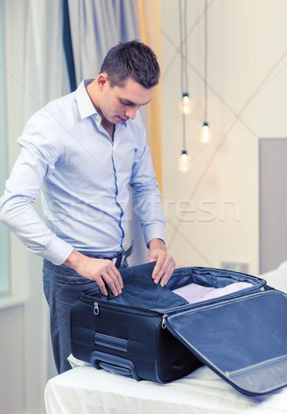 Empresário coisas mala negócio tecnologia Foto stock © dolgachov