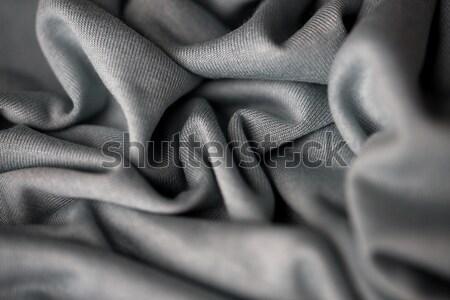 серый текстильной ткань текстуры хлопка Сток-фото © dolgachov