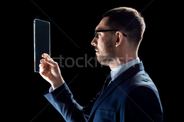 Сток-фото: бизнесмен · костюм · рабочих · прозрачный · деловые · люди