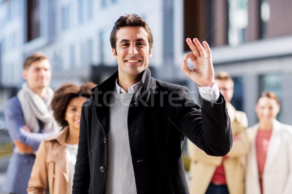 команда вызывать рукой знак бизнеса Сток-фото © dolgachov