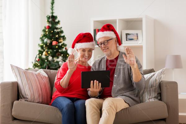 Stok fotoğraf: Mutlu · Noel · tatil · iletişim