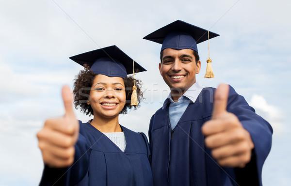 Mutlu Öğrenciler lisans eğitim Stok fotoğraf © dolgachov