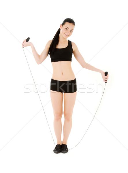 фитнес инструктор белый женщину девушки Сток-фото © dolgachov
