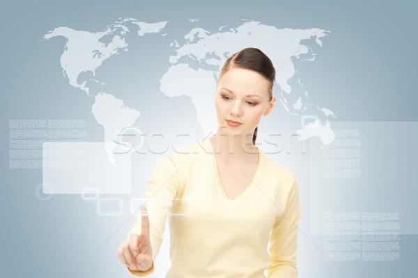 Zakenvrouw werken foto business vrouw Stockfoto © dolgachov