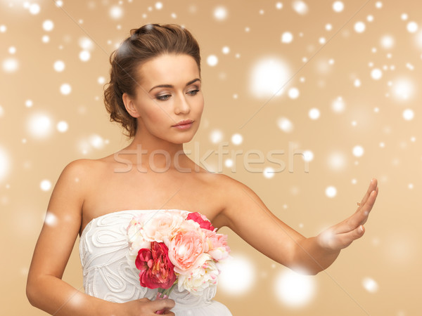 bride with wedding ring Stock photo © dolgachov