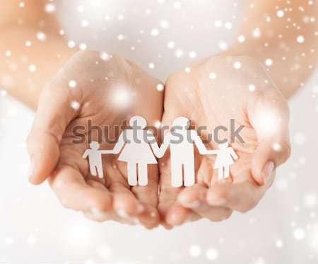 Homem mãos papel homens homossexual direitos humanos Foto stock © dolgachov