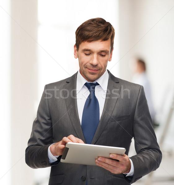 Negocios comunicación moderna tecnología oficina Foto stock © dolgachov