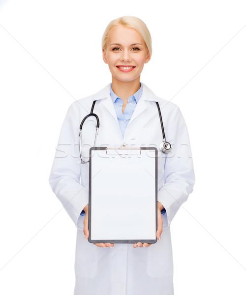 Stok fotoğraf: Gülen · kadın · doktor · sağlık · tıp