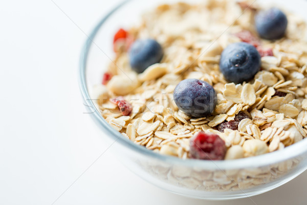 Bol granola muesli table alimentaire Photo stock © dolgachov