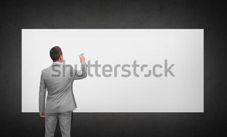 ビジネスマン 事務椅子 ホワイトボード ビジネスの方々  広告 スーツ ストックフォト © dolgachov