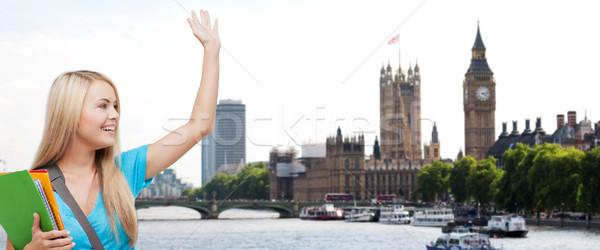 студент стороны Лондон город Сток-фото © dolgachov