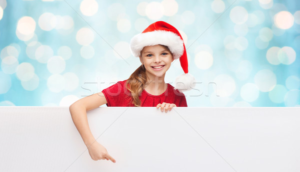 子 サンタクロース ヘルパー 帽子 ホワイトボード クリスマス ストックフォト © dolgachov