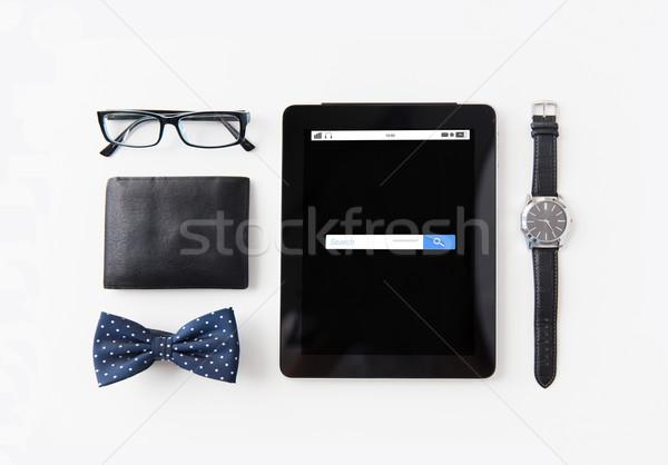 Stock fotó: Táblagép · háló · keresés · bár · személyes · technológia