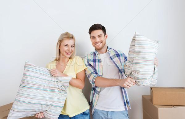 Сток-фото: счастливым · пару · движущихся · новый · дом · домой · люди