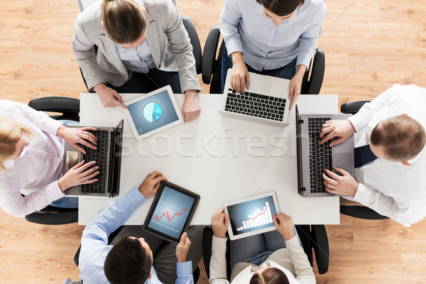 business team with laptop and tablet pc Stock photo © dolgachov